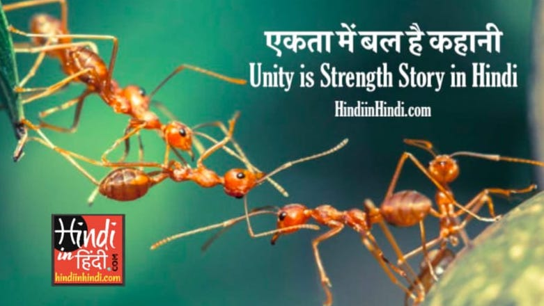 Unity is Strength Story in Hindi